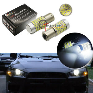2x White 144 Smd Led Bulb Lamps For 08 Mitsubishi Lancer Evo Daytime Drl Lights