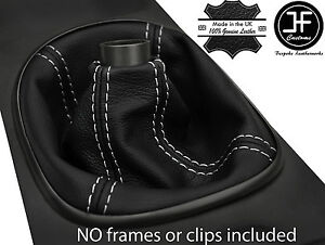 White Stitch Manual Real Leather Shift Boot Fits Acura Rsx Type S Type R 02 06