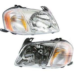 Headlight Set For 2001 2004 Mazda Tribute Left And Right With Bulb 2pc