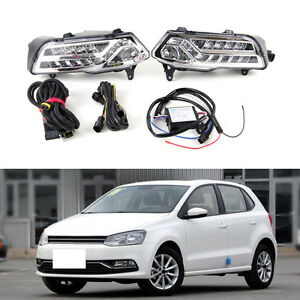 Auto White Light Front Day Time Running Light Fit For Volkswagen Polo 2014 2016