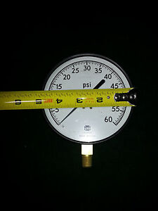 Usg Pressure Gauge 4 1 2 60 Psi 60psi Large Face Brass Gage 5 Air Compressor