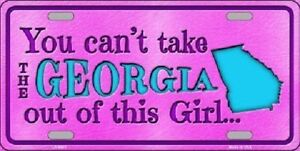 Georgia Girl Novelty Metal License Plate