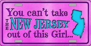 New Jersey Girl Novelty Metal License Plate