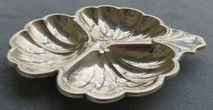 Frank Smith Sterling Silver 3 Part Scalloped Bonbon Serving Dish