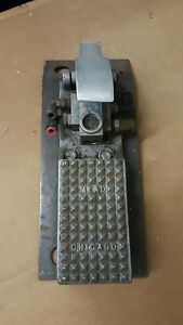 Mead Pneumatic Industrial Foot Pedal Switch Chicago