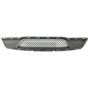Bumper Grille For 2013 2016 Ford Taurus Center Gray Plastic Capa
