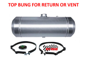 8x36 Center Fill Spun Aluminum Gas Tank With Top 1 4 Npt Bung For Return Or Vent