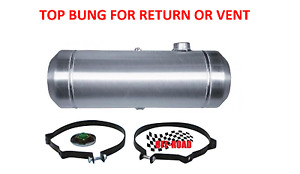 8x33 End Fill Spun Aluminum Gas Tank With Top 1 4 Npt Bung For Return Or Vent