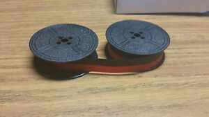 New Universal Typewriter Black And Red Ribbon Twin Spool 1 2 Inch Free Shipping