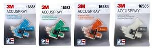 3m 1 2 1 3 1 4 1 8 Accuspray Atomizing Heads Single White Spray Gun Tip 2 Each