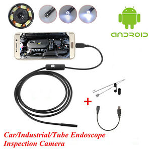 Otg 7mm Endoscope Waterproof Borescope Car Engine Tube Inspection Camera Android