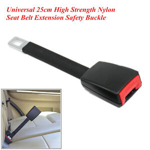 Car Suv Seat Belt Extender Extension 25cm High Strength Nylon Safety Buckle Clip