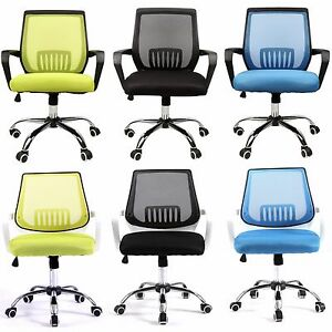Modern Mid Back Mesh Drafting Computer Office Desk Chair Commercial Task Chairs