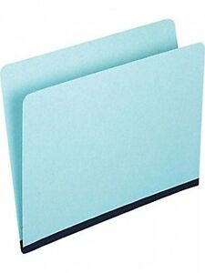 Pressboard File Folders Legal Size Single Tab Blue 25 Count One Inch Expansion