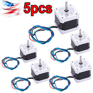 5 X Nema 17 Stepper Motor Mill Robot Reprap Makerbot Prusa 3d Printer Heatsink