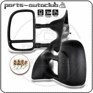 Pair 99 16 Ford F250 f550 Superduty Towing Extend Telescoping Manual Side Mirror
