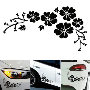 Flower Vinyl Car Decor Black Car Sticker Decal Window Graphics Vnc