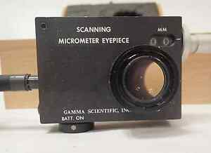 Eg g Gamma Scientific 700 10 65a Scanning Micrometer Eyepiece W case