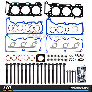 Head Gasket Set Bolts For 97 01 Ford Explorer Sport Trac Mountaineer Vin E