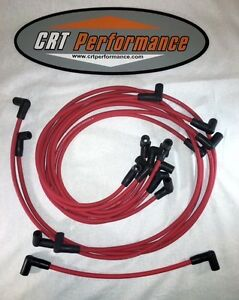 Small Block Chevy 55 89 305 327 350 400 Hei Red Spark Plug Wires Under Exhaust