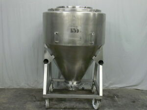 800 Liter Stainless Steel Blending Tank Tote By L b Bohle W 10 Bottom Valve