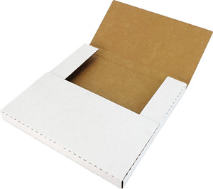 50 12 Variable Depth Record Mailers With One Side White