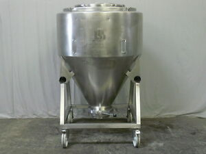 800 Liter Stainless Ste Blending Tank Tote By L b Bohle With 10 Bottom Valve