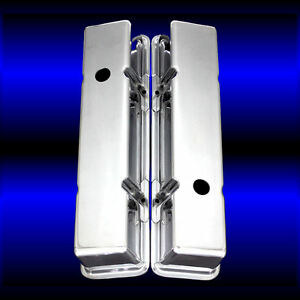 Aluminum Smooth Tall Valve Covers For Small Block Chevy 327 350 383 400 Sbc