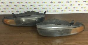 Mitsubishi Galant Headlights Left And Right 1999 2000 2001 2002 2003 With Bulbs