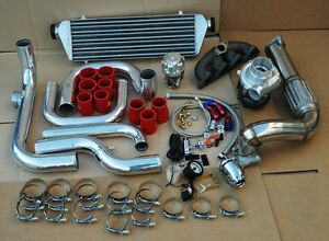 Honda 1992 2000 Civic D15 D16 Sohc Cast Iron T3 T3 T4 Full Turbo Kit Bolt On Bov