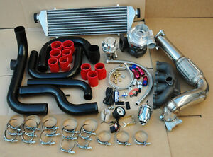 Honda Civic 92 95d15 D16 Blot On Turbo Kit Aluminum Intercooler Piping Ssqv Bov