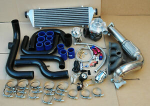 Civic Integra Delsol B Series Turbo Manifold Downpipe Turbocharger oil Feed
