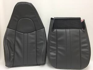 2003 2009 Chevy Gmc C Series Vinyl Seat Cover Driver Bottom And Back dk Gray