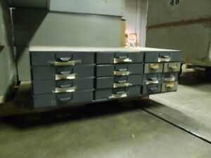 Lyon Metal Supply Parts Bin 34 X 17 X 10 1 2 With 15 Drawers