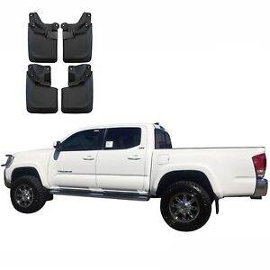 4 Pcs For Toyota Tacoma 2016 2017 Mud Flaps Splash Guard Molded W Fender Flares