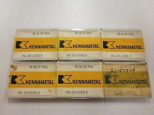 30pc Kennametal Tpg Tpgn 438 Kc250 Coated Indexable Carbide Inserts 546so