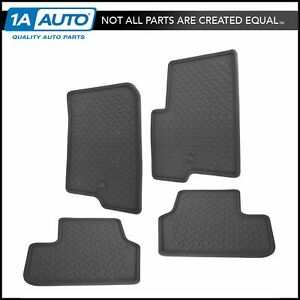 Oem Floor Mat Rubber Slate Gray Front Rear Kit Set Of 4 For Jeep Compass Patriot