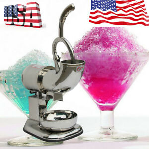 Commercial Electric 400lbs Snow Cone Ice Shaver Maker Machine Ice Crusher Us Fda