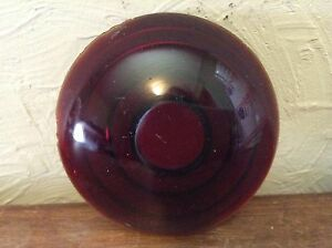 Vintage 3 Red Glass Jefferson No 906 Lens Tail Brake Stop Light Lamp Antique