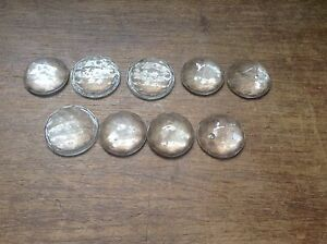 Vintage 9 Lot Clear White Jewel Cut Reflectors 7 8 License Plate Topper Light