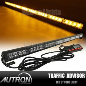 35 Led Vehicle Flash Light Bar Traffic Advisor Emergency Warn Strobe Amber Us
