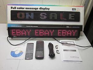 Beta Brite Full Color Led Message Display Usb Windows Xp Compatible