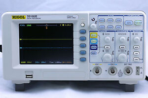 New Rigol Ds1052e Digital Oscilloscope 50mhz 1 Gsa s 2 Channels Plus Usb Storage