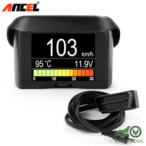 Ancel A202 Smart Obdii Gauge Car Speed Meter Water Coolant Temperature Display