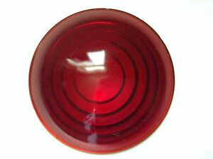 Vintage L 316 Red Glass 3 1 2 Lens Old Tail Stop Brake Light Lamp Car Truck