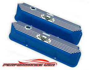 Brand New Ford Fe 427 American Eagle Deep Engraved Blue Valve Covers