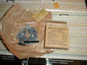 Nos 1933 54 Distributor Breaker Plate Various 6 Cyls Chevy Nash Packard Gmc