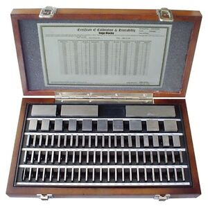 81 Pc Steel Square Gage Block Set 4101 0005 new Ds