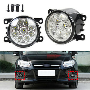 Chic 9 Led Round Front Fog Lamp Drl Daytime Running Light For Ford Focus Honda