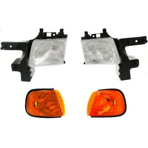 Headlight Kit For 99 2003 Dodge Ram 1500 Van 98 B3500 Left And Right 4pc